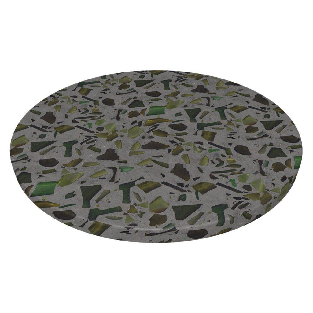 Diggels | gerecycled glas | donkergrijs | grof